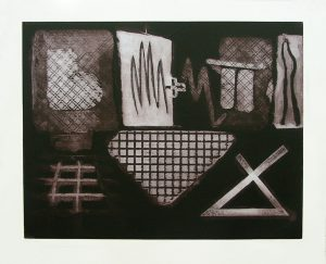 Gridworks: etching by Irish printmaker Stephen Vaughan