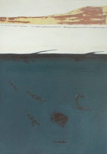 Bog Pool: etching carborundum print by Stephen Vaughan