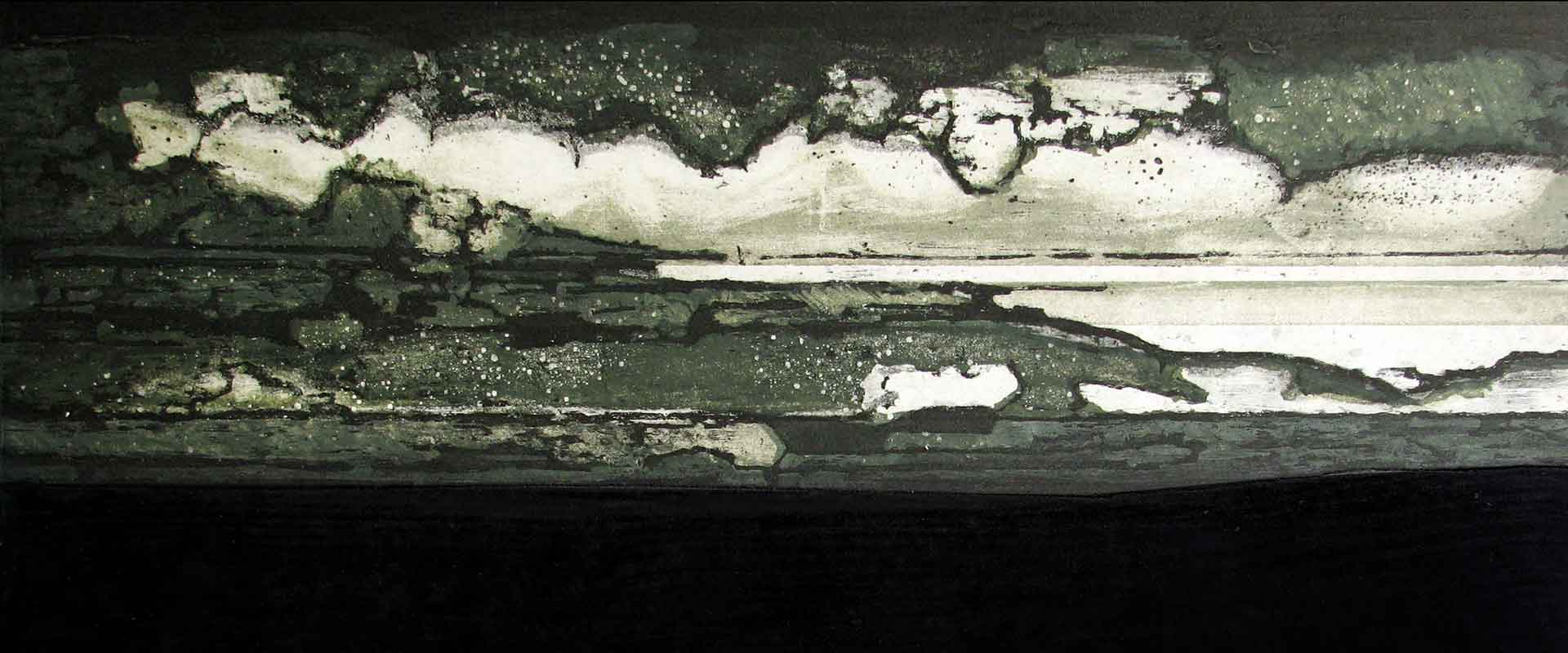 Blaze etching and carborundum detail by Stephen Vaughan