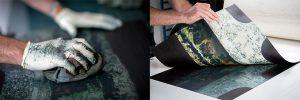 Stephen Vaughan making print