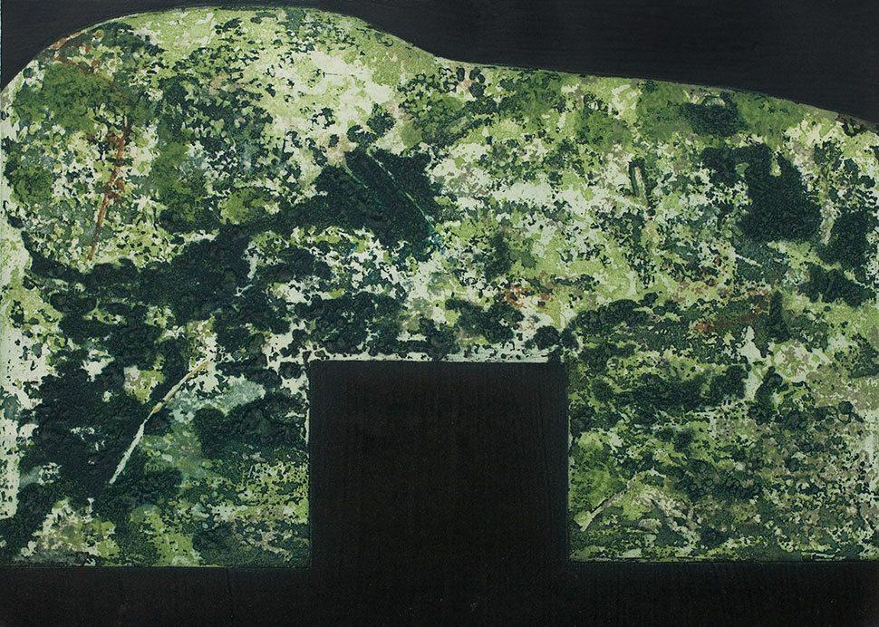 Sliabh: etching and carborundum print by Stephen Vaughan