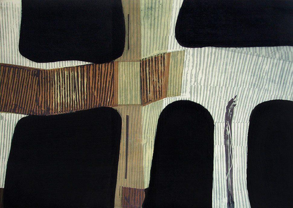 Furrow: etching carborundum print by Stephen Vaughan