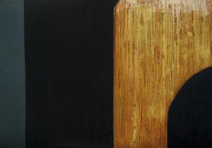 Lughnasa: etching carborundum print by Stephen Vaughan