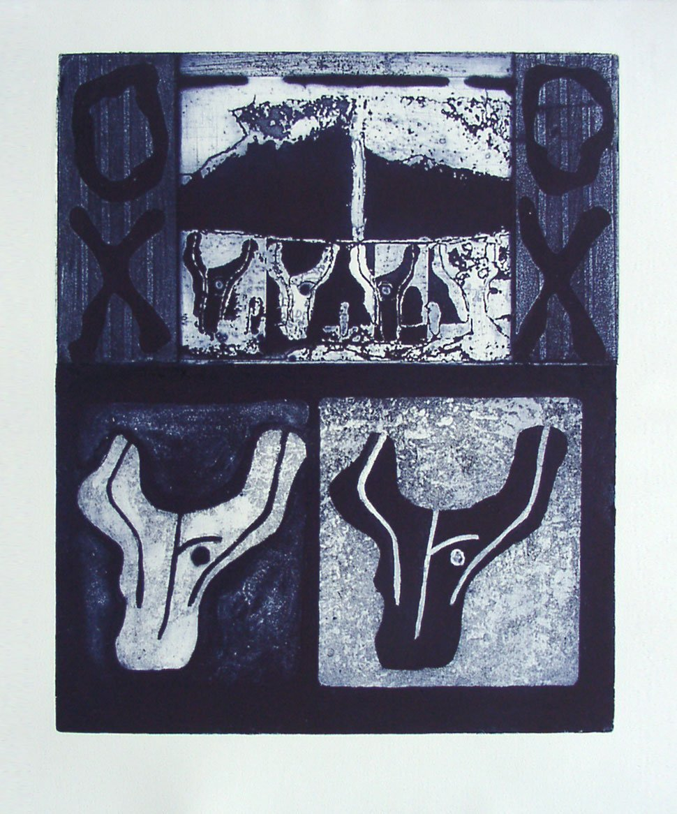 Oxen: fine art print by Stephen Vaughan