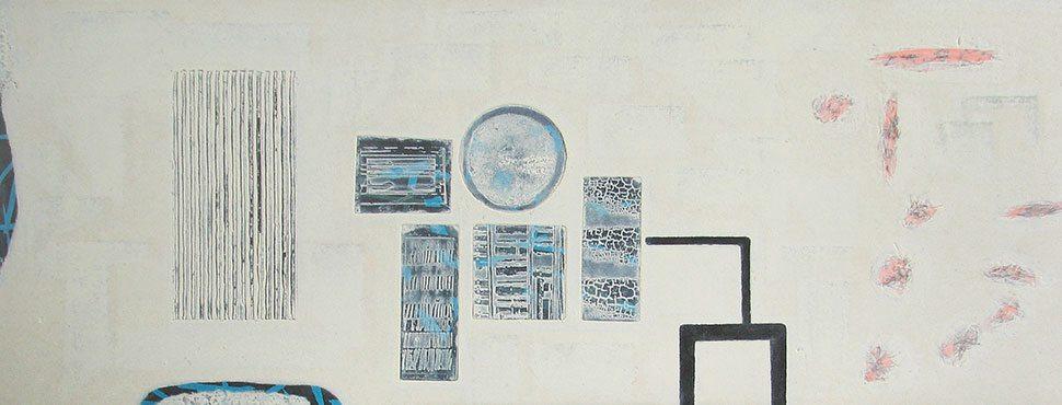 Pilot: etching carborundum print by Stephen Vaughan