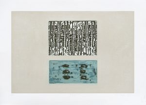 Propagation, fine art etching and carborundum print by Stephen Vaughan