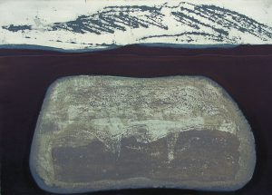 Rock: etching carborundum print by Stephen Vaughan