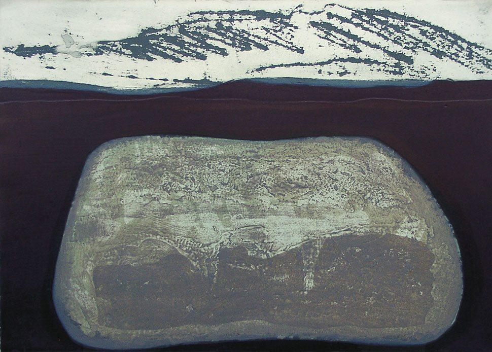 Rock: etching carborundum print by Stephen Vaughan
