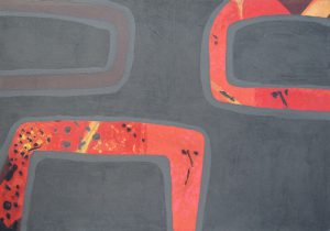 Snakes:etching carborundum print by Stephen Vaughan