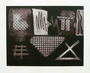 Gridworks: intaglio, etching, carborundum, fine art prints 1993 & 1994 by Stephen Vaughan