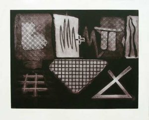 Gridworks intaglio etching carborundum print thumb stephen vaughan