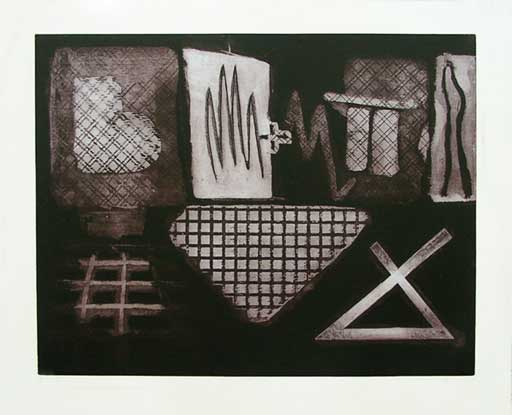 Gridworks: intaglio, etching, carborundum, fine art prints 1993 & 1994 by Stephen Vaughan