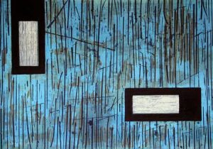 Kelly: intaglio, etching, carborundum, fine art prints 2001 by Stephen Vaughan