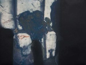 She Appears on Stage etchin carborundum by Stephen Vaughan