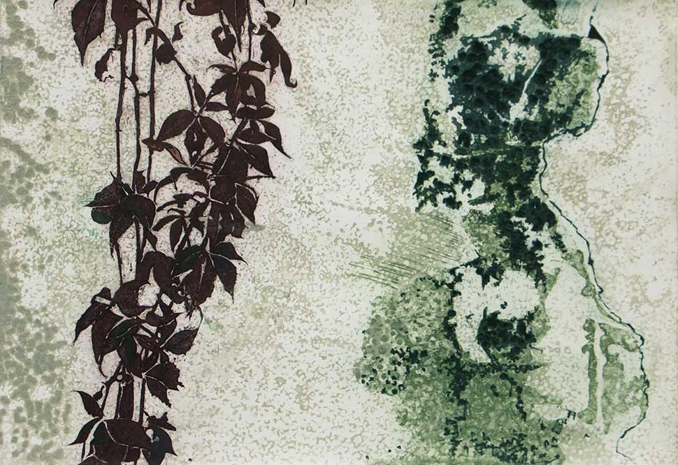 Aria etching carborundum print by Stephen Vaughan