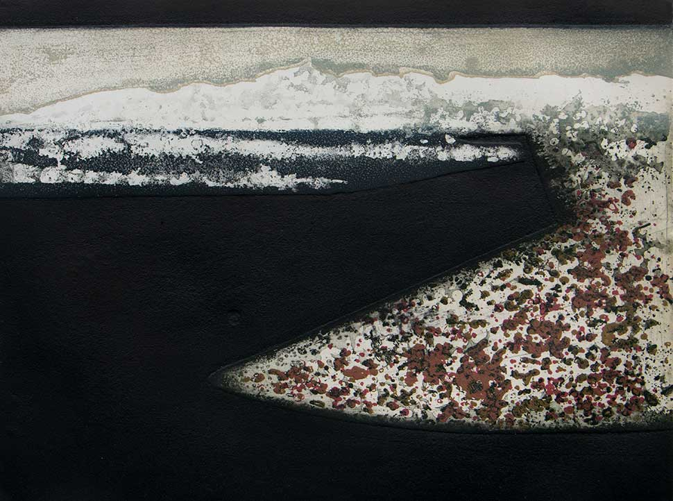 Black Strand fine art ecthing and carborundum print by Stephen Vaughan