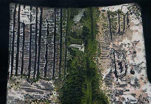 Fine art ethching carborundum prints by Stephen Vaughan 2021