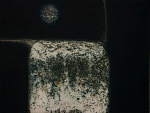 What We Know Now intaglio fine art etching carborundum print by Stephen Vaughan