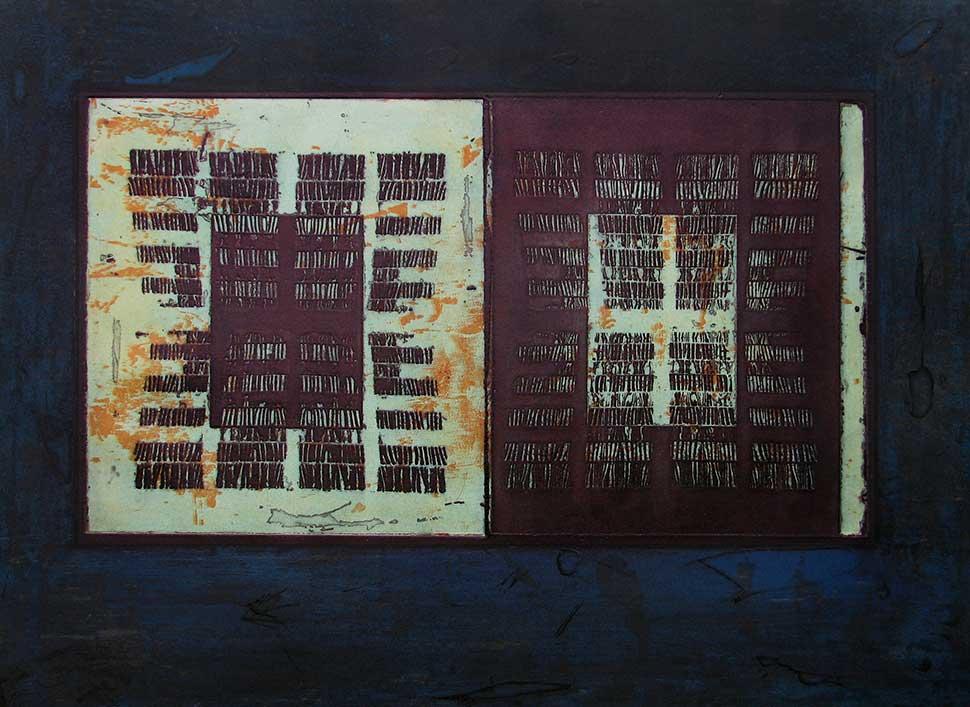 Red Sea etching carborundum finew art print by Stephen Vaughan