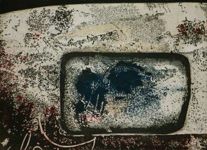 Spectre etching carborundum fine art print by Stephen Vaughan